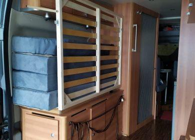 camper aanpassingen bed